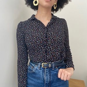 Reformation Violet Blouse in the color Confetti